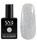 SNB Gelacquer  Lac semi-permanent 01 Glitter Argintiu