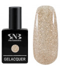 SNB Gelacquer  Lac semi-permanent 02 Glitter Gold