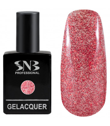 SNB Gelacquer  Lac semi-permanent 03 Glitter Red