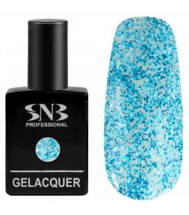SNB Gelacquer  Lac semi-permanent 07 Blue Glitter