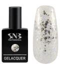 SNB Gelacquer  Lac semi-permanent F14 Folie argintie