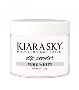 Kiara Sky Dip Powder  – Pudra colorata Pure White