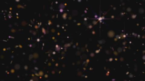 Negru cu sclipici Colorat